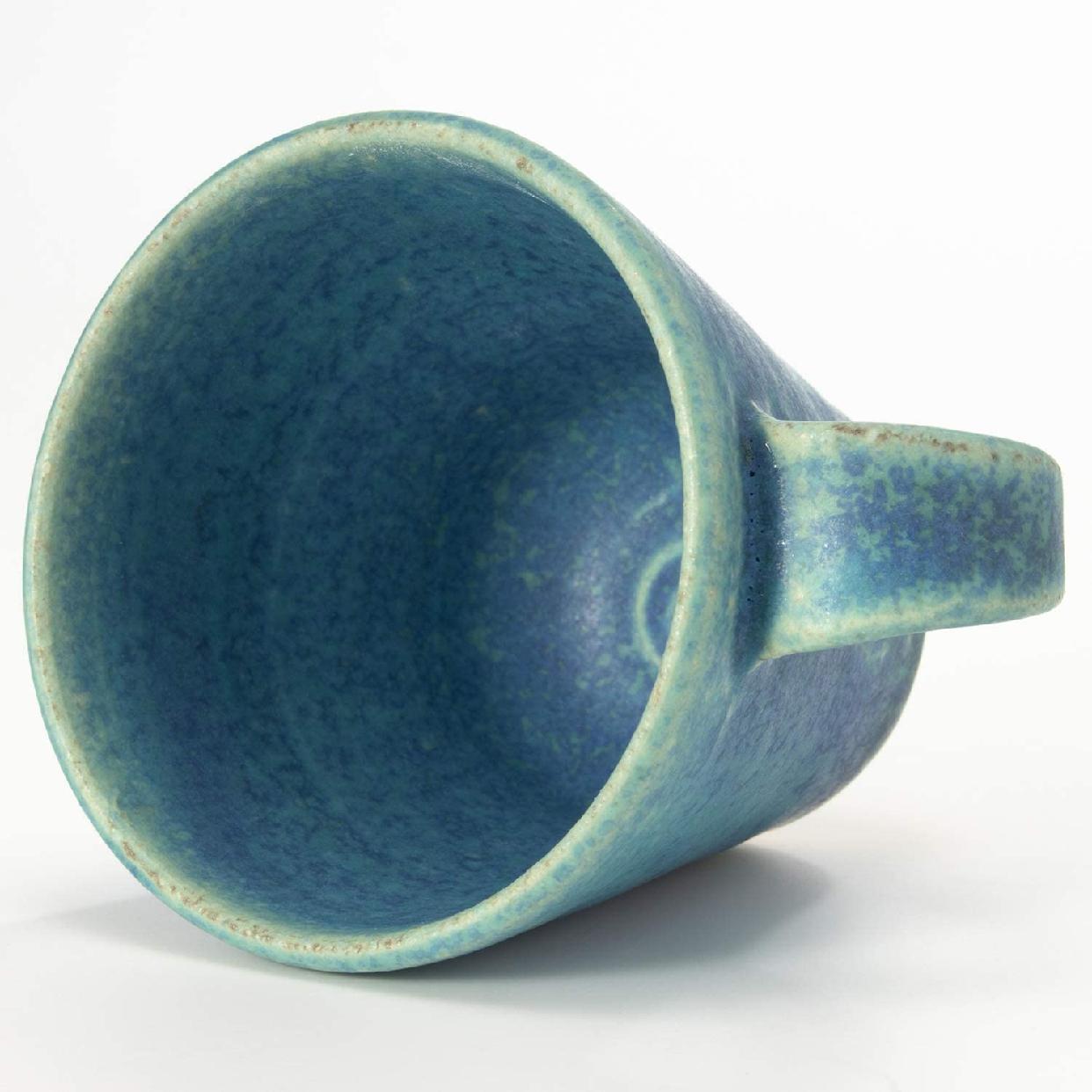 丸伊製陶 信楽焼 へちもん エスプレッソカップ 青彩釉の商品画像2