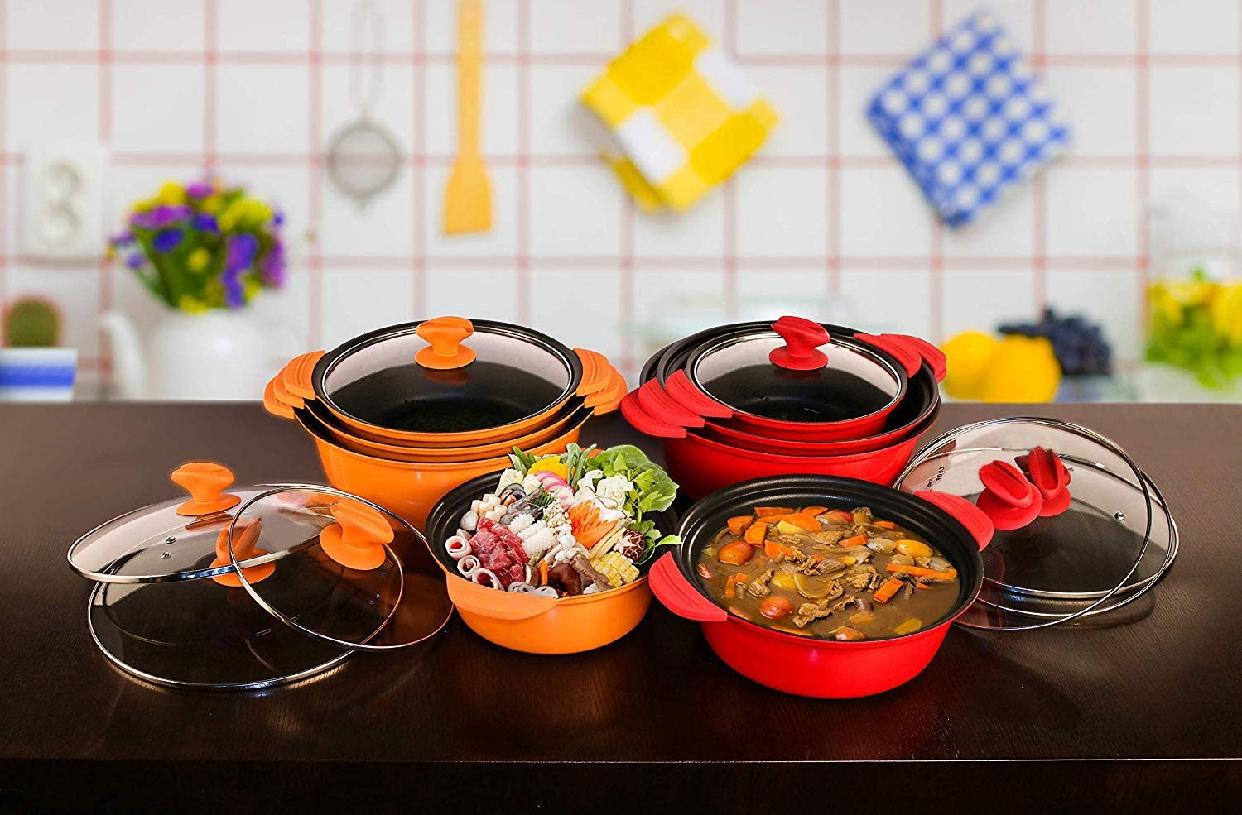 COOKSMARK(クックスマーク)両手鍋 20cm オレンジの商品画像7