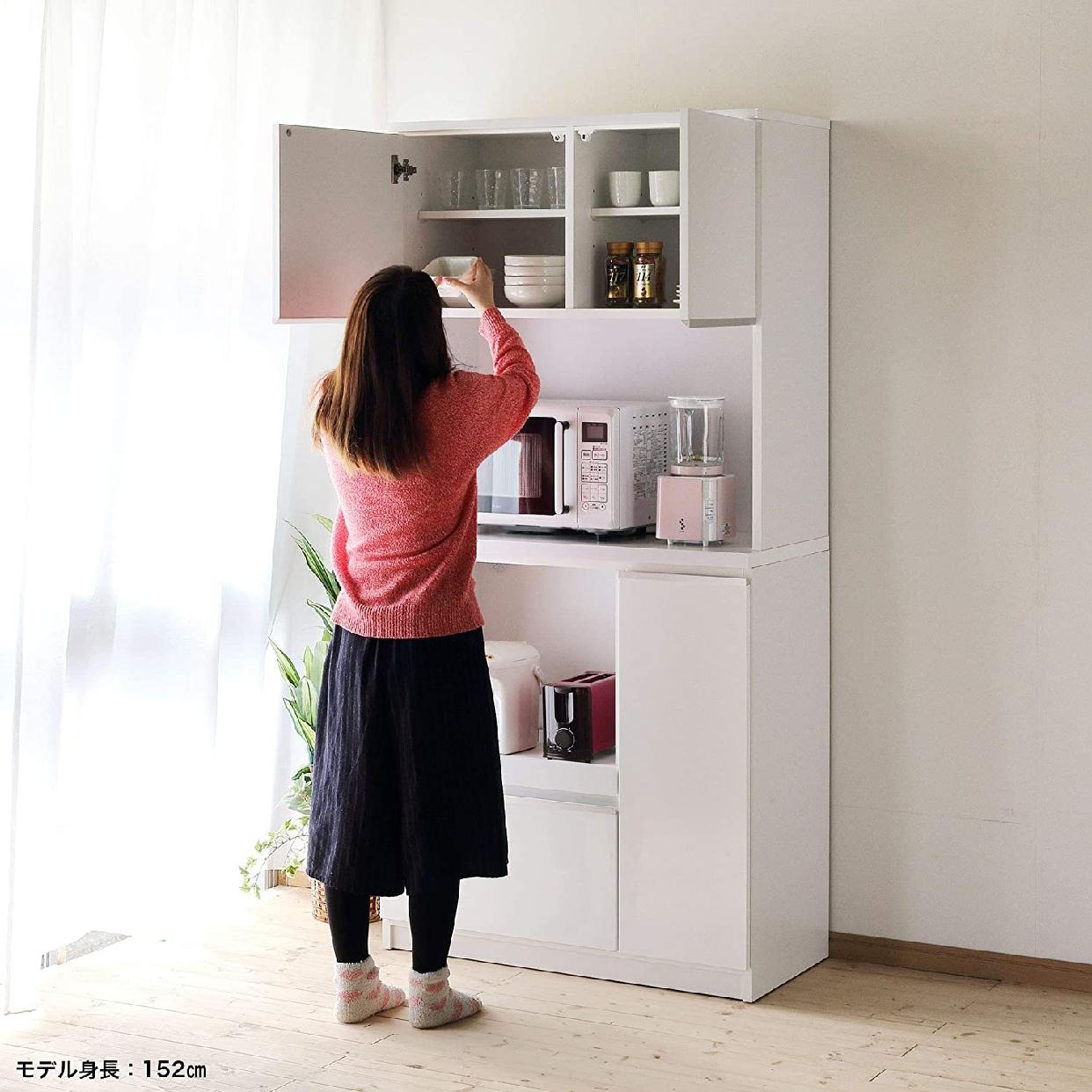 ナポリレンジ台 食器棚コンセント付 完成品 幅88.8cmの商品画像8