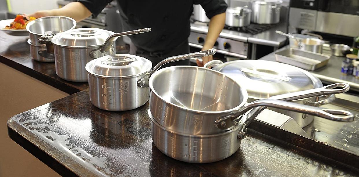 PRO CHEF(プロシェフ) アルミ 浅型片手鍋(目盛付)18cmの商品画像8