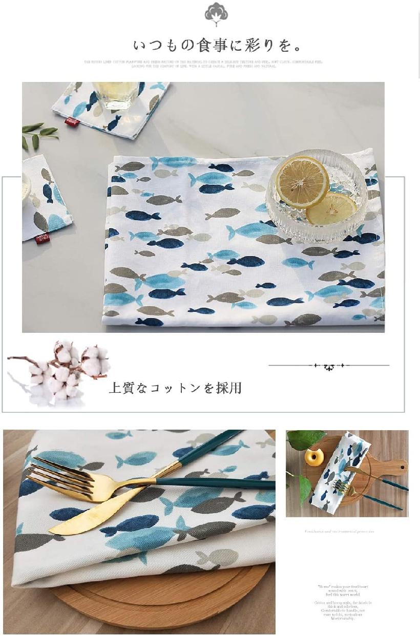 careme(カレメ)ランチョンマット プレイスマット2枚入 40×60cm 北欧風 魚柄の商品画像5