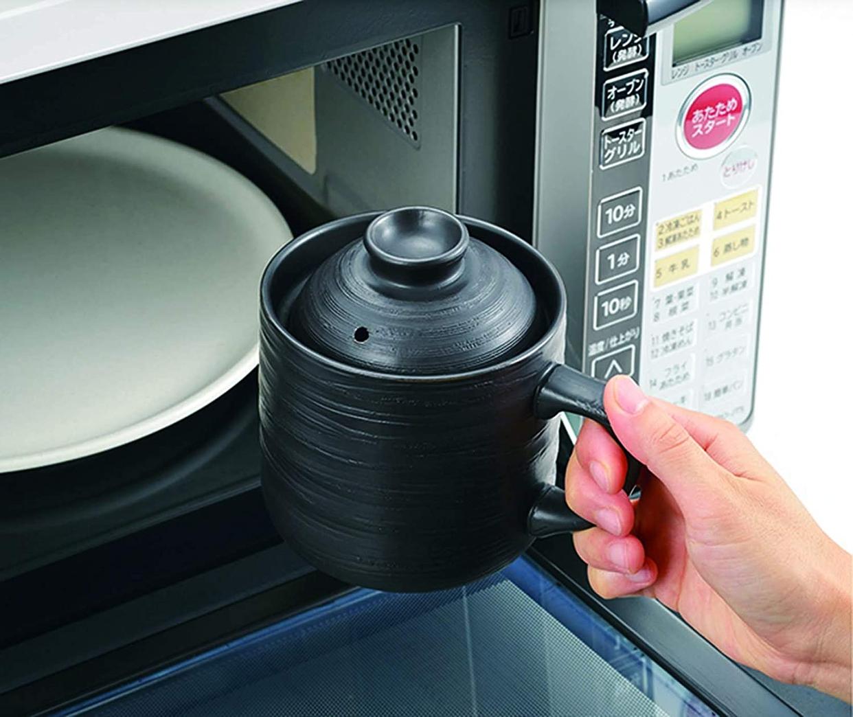 カクセー 電子レンジ専用炊飯陶器 楽炊御膳 T-01Bの商品画像2
