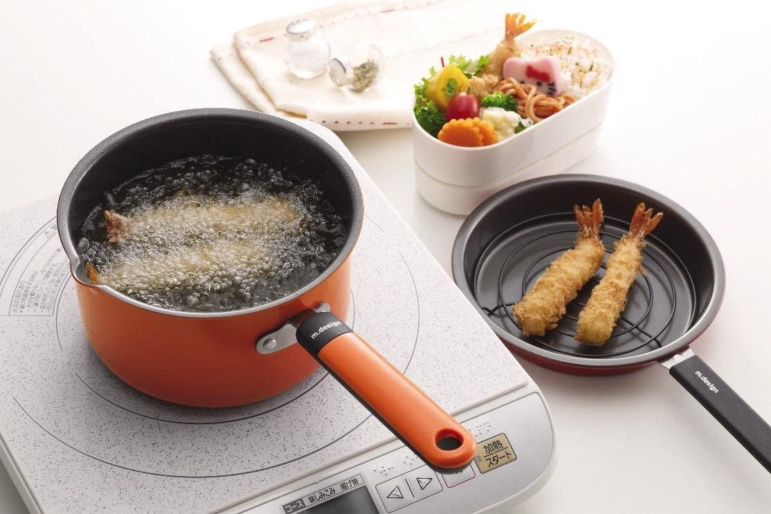 m.design(エムデザイン) お弁当あげもの鍋 オレンジ MAD-2の商品画像2