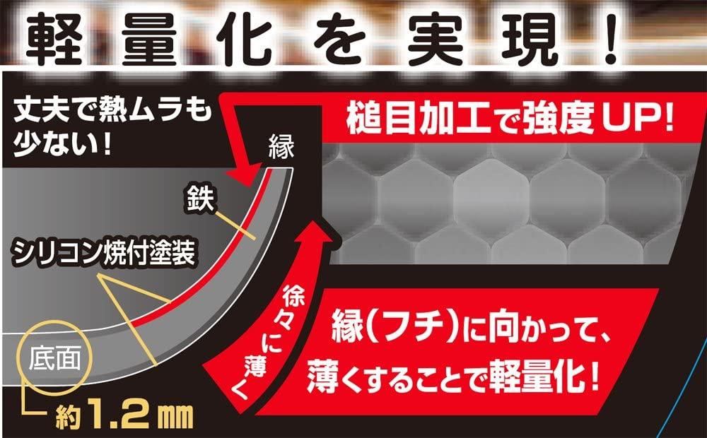 スゴ軽(スゴカル) IH対応 鎚目鉄炒め鍋 30cm SGK-30Iの商品画像2