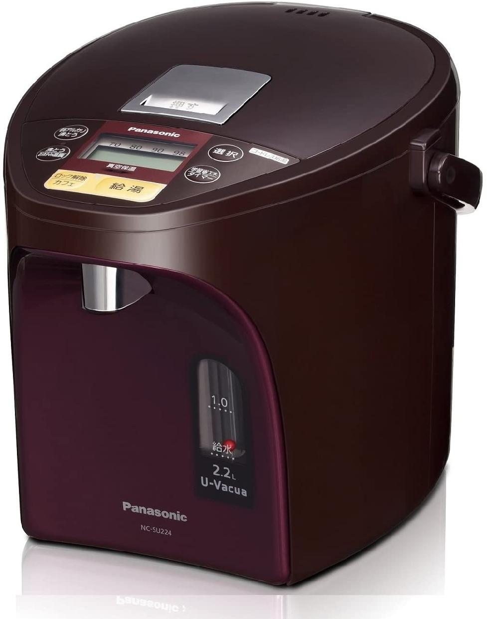 Panasonic(パナソニック)マイコン沸騰ジャーポット(ブラウン)NC-SU224-Tの商品画像
