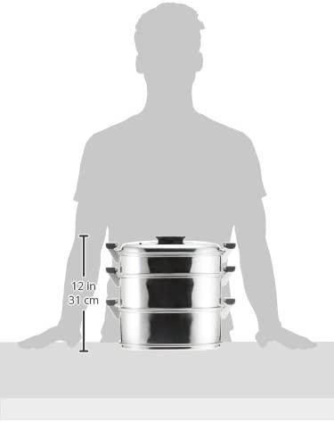 神子島製作所 角型蒸器 3段  AMS69293の商品画像3