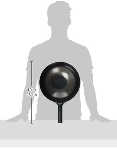 山田工業所(ヤマダコウギョウショ) 鉄 打出 中華片手鍋 30cm(板厚1.2mm) 0193700の商品画像2