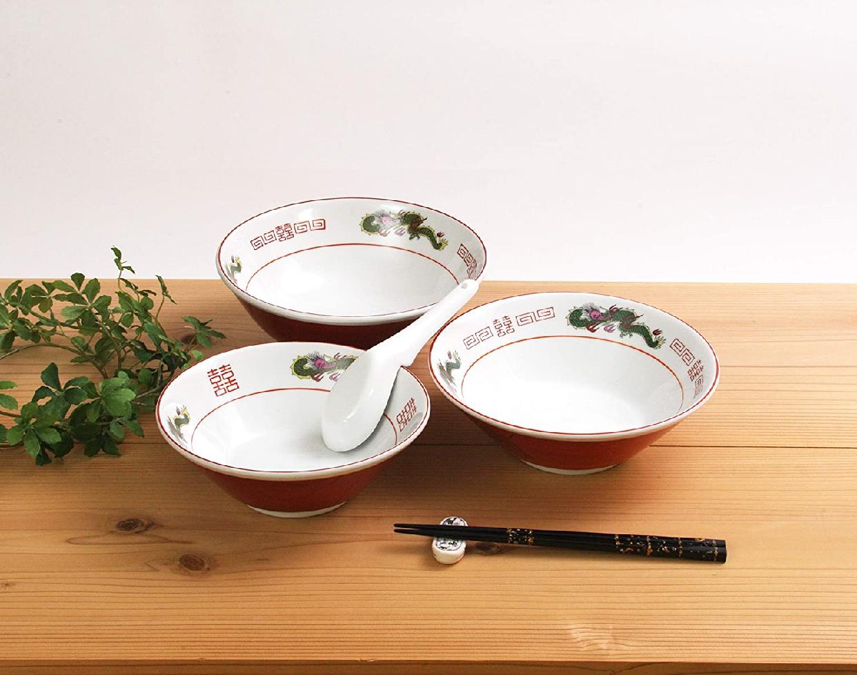 結彩の蔵 赤巻三ツ竜 6.3寸 切立丼 ト682-097 赤の商品画像5