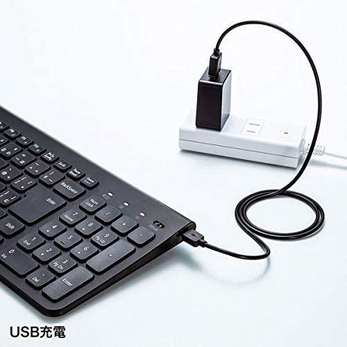 SANWA SUPPLY(サンワサプライ) Bluetoothスリムキーボード SKB-BT31BKの商品画像7