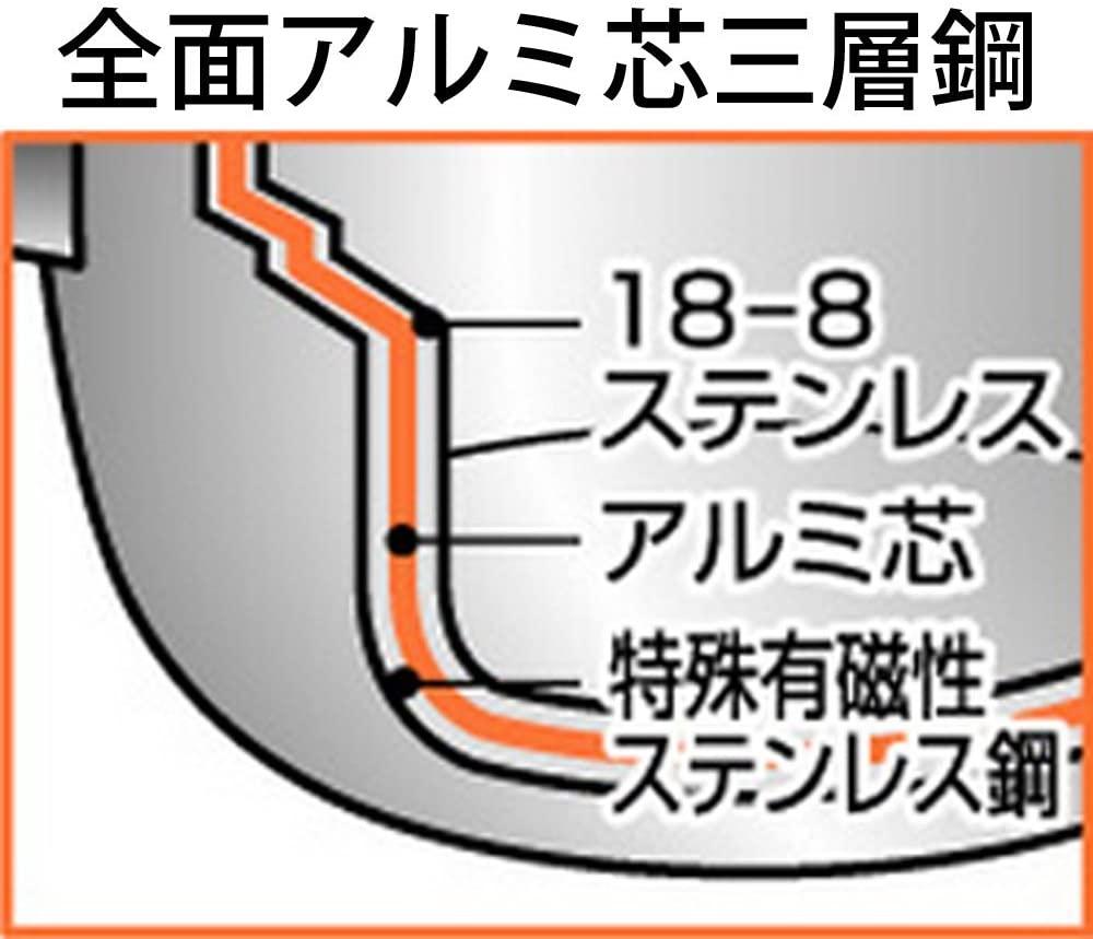Objet(オブジェ) ゆきひら鍋 14cm(1.0リットル・深さ7.5cm) OJ-61 シルバーの商品画像3