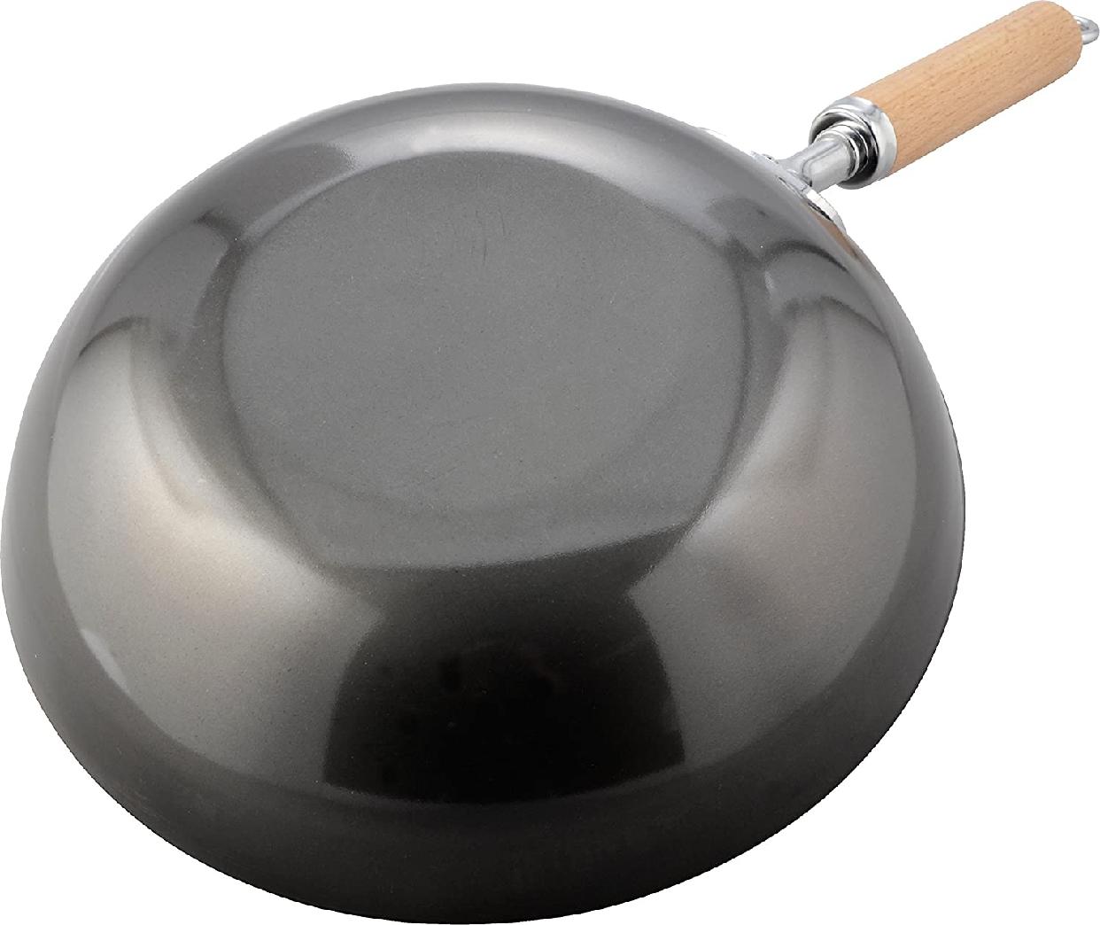 和平フレイズ(FREIZ) 黒皮鉄 炒め鍋 28cm GR-9749の商品画像5