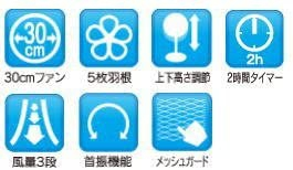 SK Japan(エスケイジャパン) 扇風機 SKJ-K308Mの商品画像3