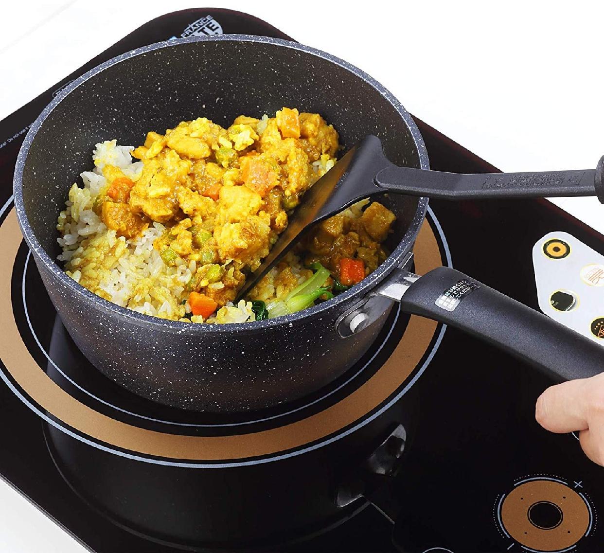 COOKSMARK(クックスマーク)片手鍋 18cm ブラック H-4236の商品画像5