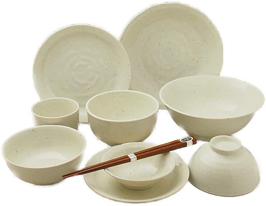 on the table(オンザテーブル) 和にも洋にも使える優しい雰囲気の1人用白い食器10点セットの商品画像