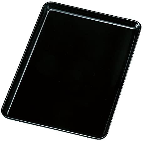 藤代工芸(ふじしろこうげい)紀州塗 PC 8寸 黒無地 切手盆の商品画像