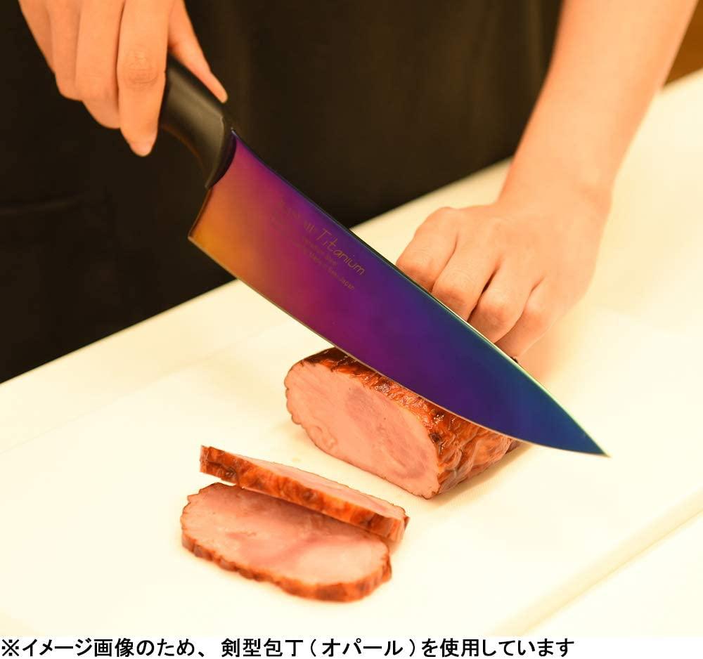 SUMIKAMA(スミカマ) 霞KASUMI チタンコーティング No.22018/B 18㎝ 三徳包丁(ブルー)の商品画像4
