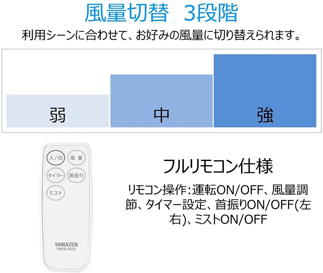山善(YAMAZEN) ミスティボックス扇風機「霧風」の商品画像4
