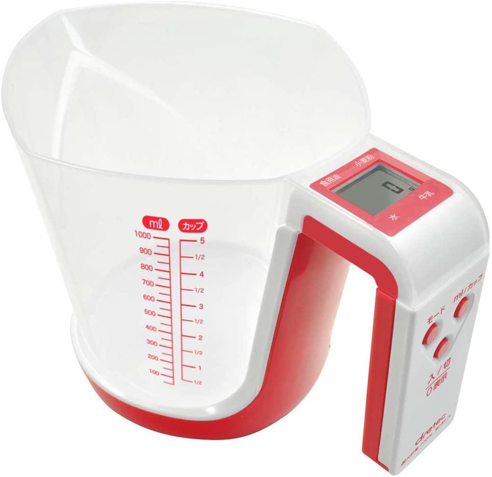 dretec(ドリテック) デジタル計量カップ ファリーヌ 1kg CS-100の商品画像