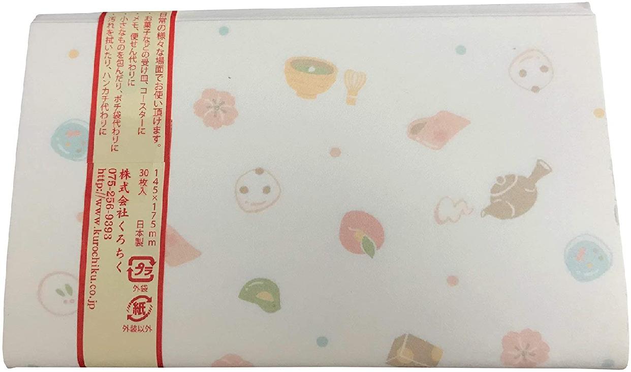 クロチク おしゃれ懐紙 和菓子 71709711 白の商品画像3