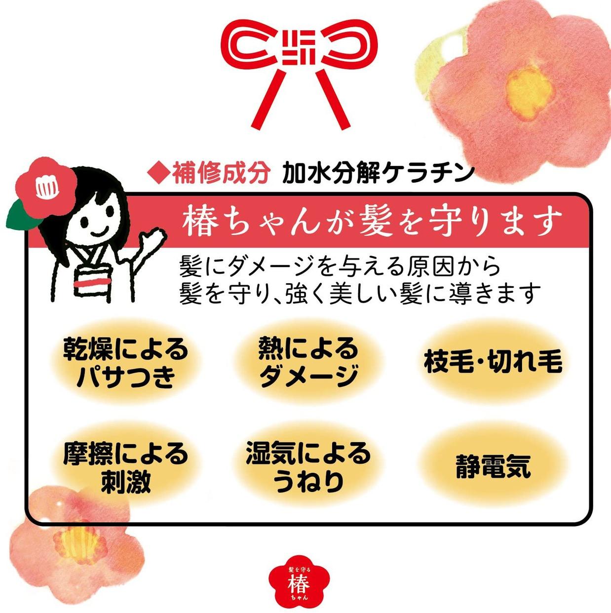 髪を守る椿ちゃん 保湿ヘアクリームの商品画像3