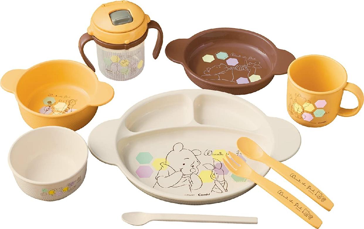 Combi(コンビ) くまのプーさん ベビー食器セットC オレンジの商品画像
