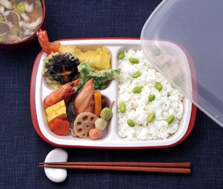 楽弁(Rakuben) フタ付ランチプレート(丸)オレンジの商品画像2