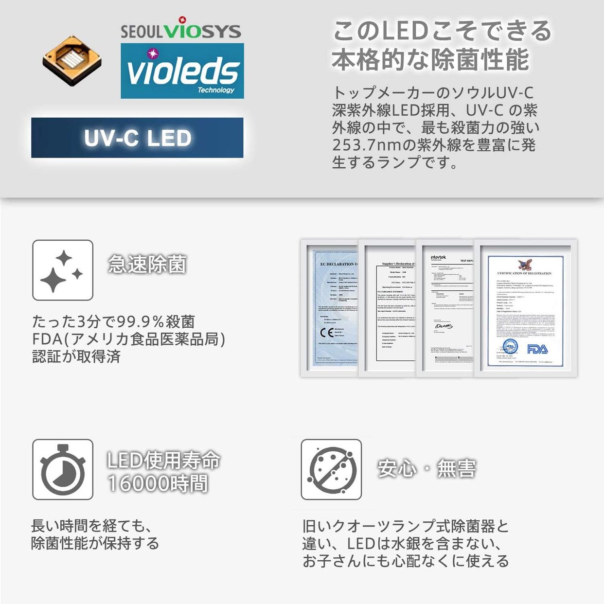 KOME UV-C 歯ブラシ除菌器 CUBOR1の商品画像6