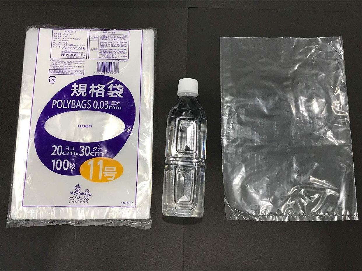 ORDIY(オルディ) ポリバッグ 規格袋 11号 0.03mm 透明 L03-11の商品画像2