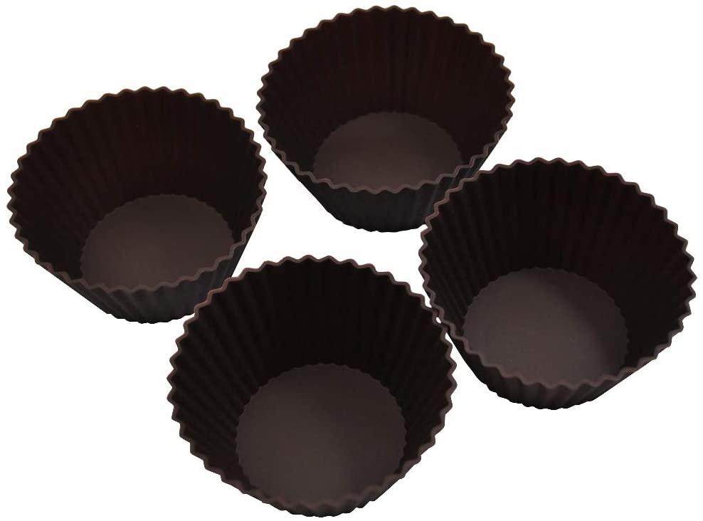 Kai House SELECT(カイハウスセレクト)型ばなれしやすいシリコーン製のマフィンカップ4個入り DL6354 ブラウンの商品画像2