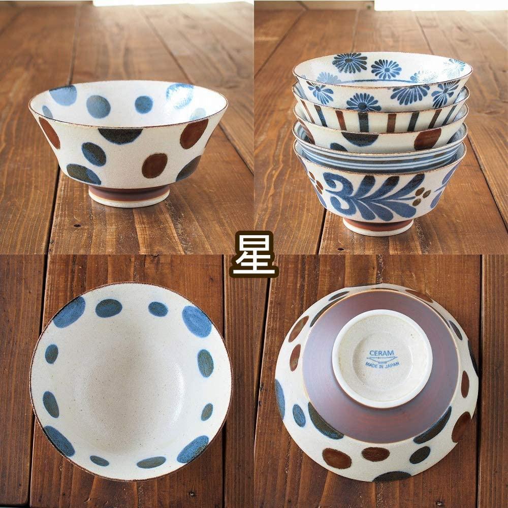 みのる陶器 南風(ぱいかじ)反型ラーメン 5柄セット 18cmの商品画像9