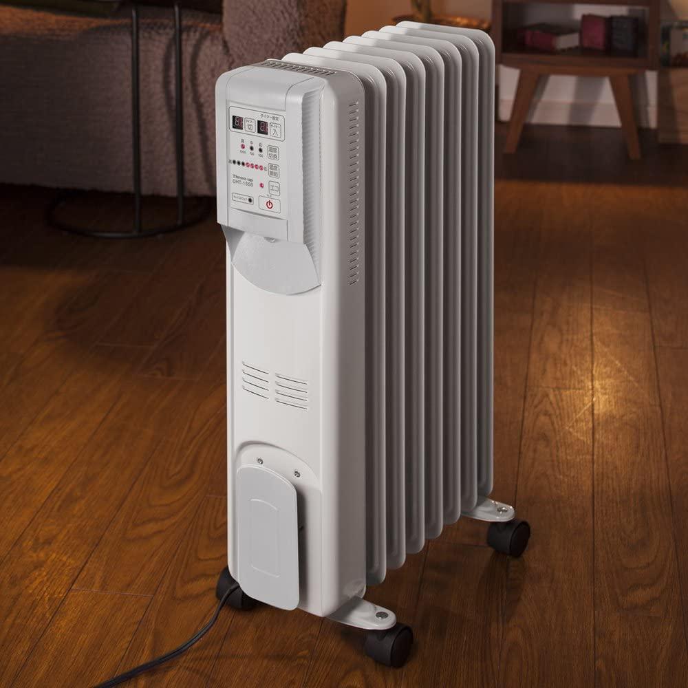 THREEUP(スリーアップ) Hidamari  マイコン式オイルヒーター OHT-1556WHの商品画像2