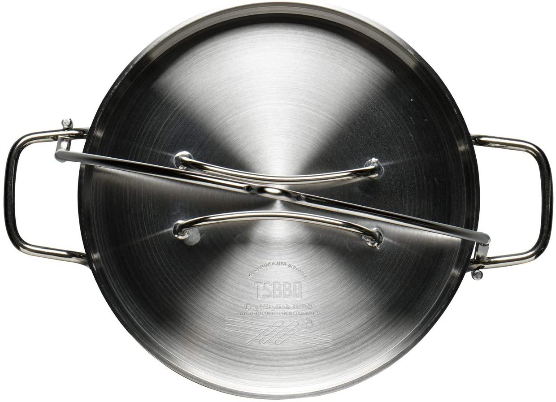 TSBBQ(ツバメサンギョウバーベキュー)ライトステンレス ダッチオーブン10 ステンレスTSBBQ-005の商品画像3