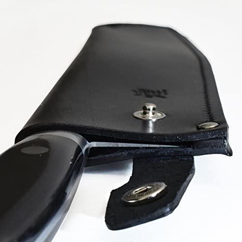 堺一文字光秀 包丁サヤ 手作り革製鞘 三徳型 6acb 黒の商品画像3