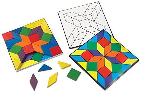 Learning Resources(ラーニングリソーシズ) Parquetry Blocks Super Set LER0289の商品画像4