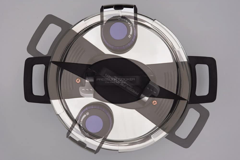 パール金属(パールキンゾク)3層底ワンタッチレバー圧力鍋 H-5388の商品画像3