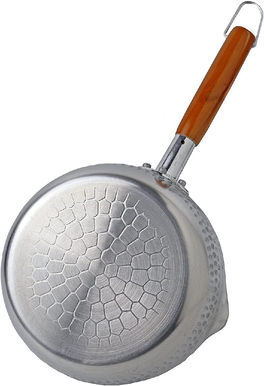 パール金属(PEARL) マーブルミラー アルミ行平鍋18cm  H-6451 シルバーの商品画像4