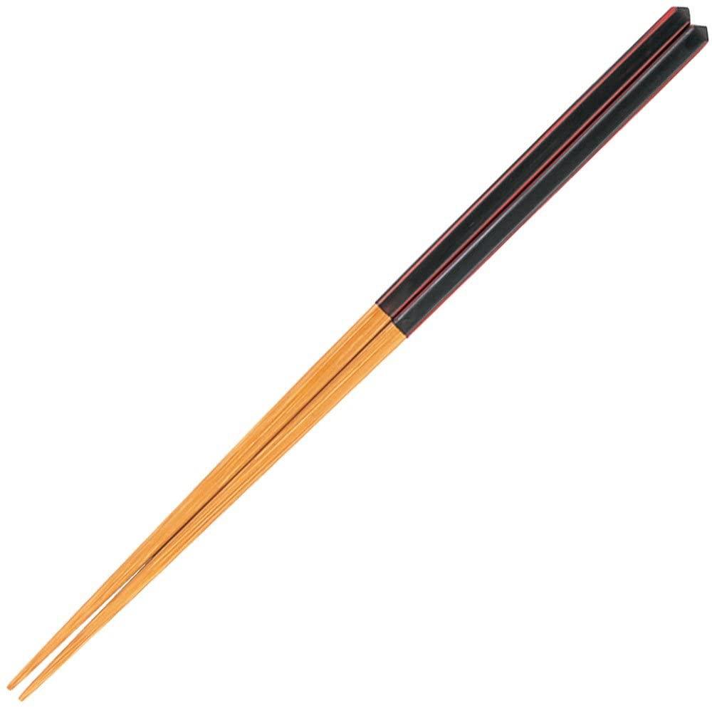 山下工芸(ヤマシタコウゲイ) 研出ダイヤカット箸 黒 27010840の商品画像