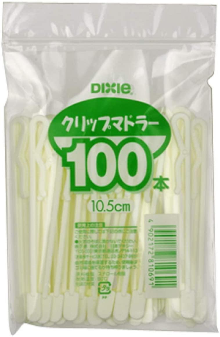 日本デキシー(ニホンデキシー)リップマドラー10.5cm 100本 ホワイトの商品画像