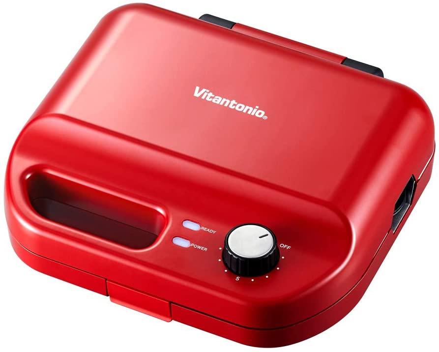 Vitantonio(ビタントニオ)ワッフル&ホットサンドベーカー VWH-50-R レッドの商品画像
