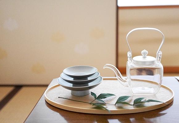 OJIGI TOKYO(オジギ トウキョウ)白木盆 シルバー 屠蘇器揃 化粧箱入りの商品画像6