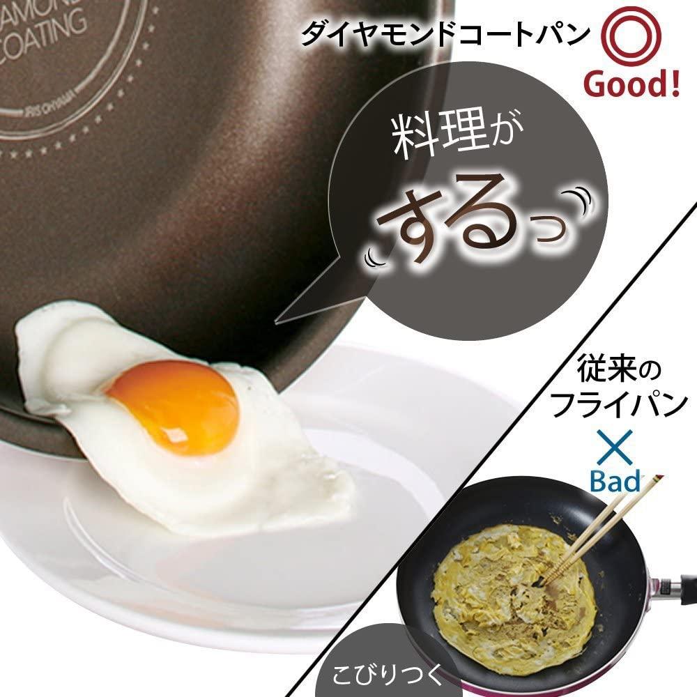 IRIS OHYAMA(アイリスオーヤマ)ダイヤモンドコートパン 6点セットの商品画像3