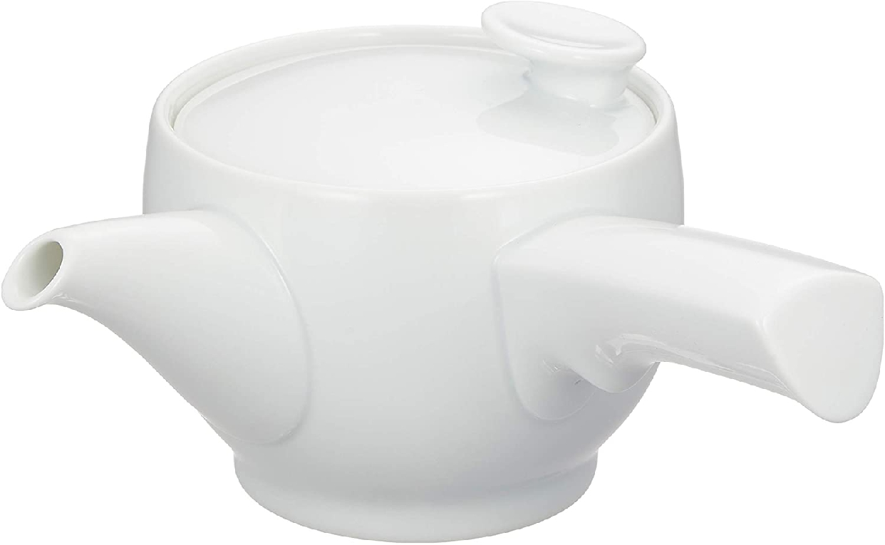 茶和 急須 白磁 右手用 日本製 φ10.5cmの商品画像3