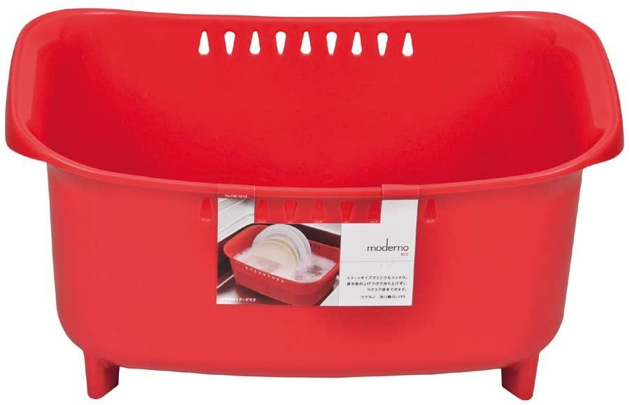 パール金属(PEARL) モデルノ 洗い桶 レッド HB-1974の商品画像2
