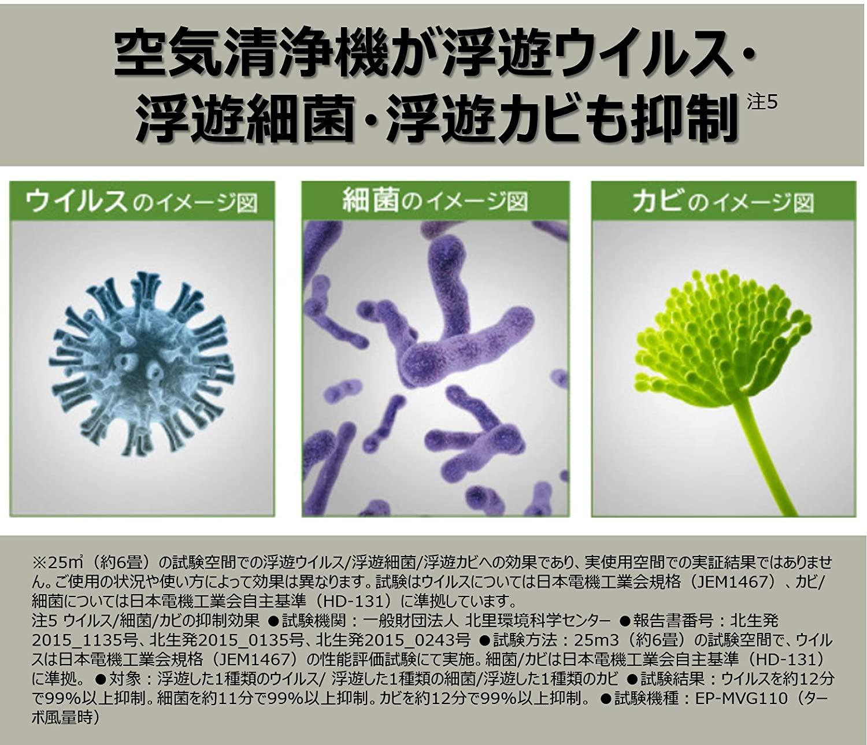 日立(HITACHI) 加湿 空気清浄機 自動おそうじ クリエア EP-MVG90の商品画像5