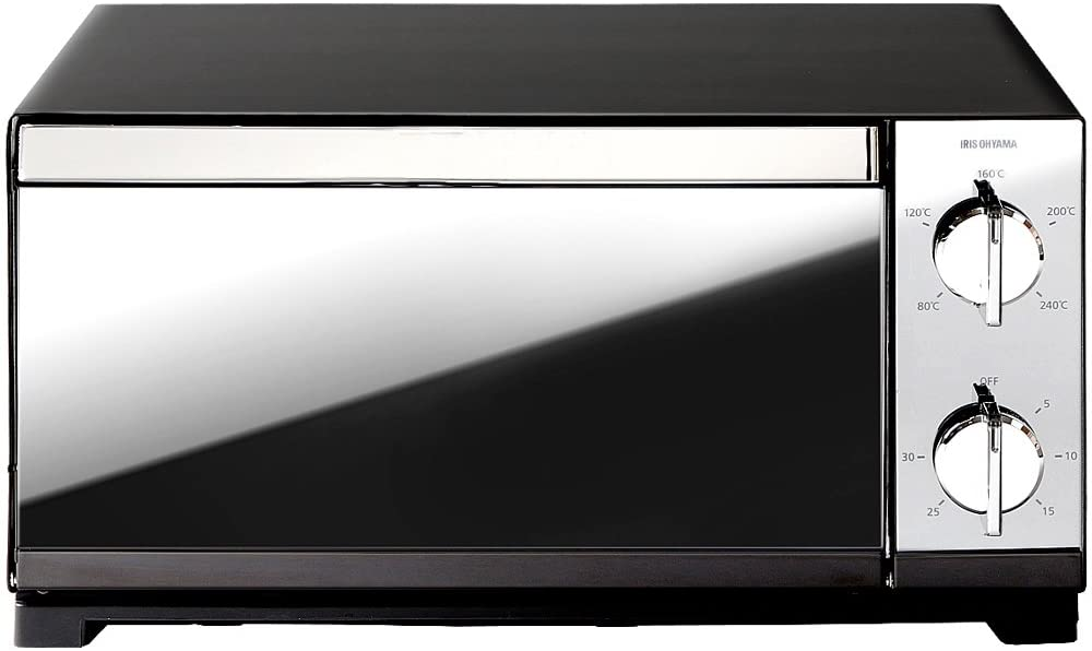 IRIS OHYAMA(アイリスオーヤマ)ミラー調オーブントースターPOT-413-Bの商品画像