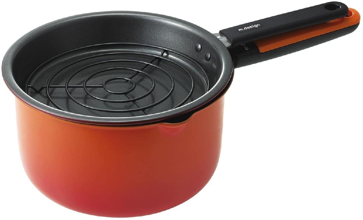 m.design(エムデザイン)お弁当あげもの鍋 オレンジ MAD-2の商品画像