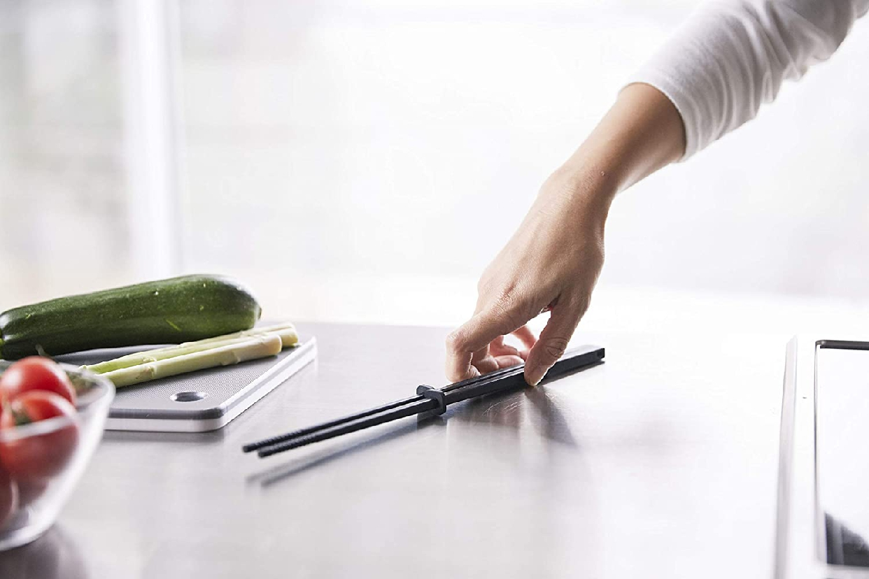 山崎実業(Yamazaki) シリコーン菜箸 タワー ブラック 4275の商品画像3