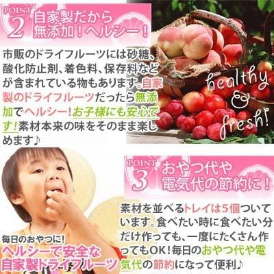 ロイヤルツウハン【食品乾燥機 ドライフルーツ】ドライフルーツメーカー (A977-S2)の商品画像4
