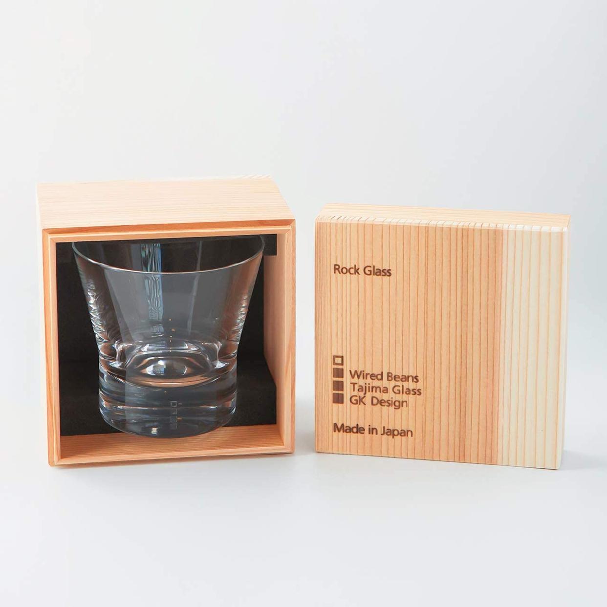 Wired Beans(ワイヤードビーンズ) 生涯を添い遂げるグラス ロック トランスペアレント(透明)国産杉箱入りの商品画像2