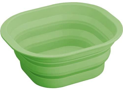 AIMEDIA(アイメディア) たためるシリコン洗い桶 グリーンの商品画像